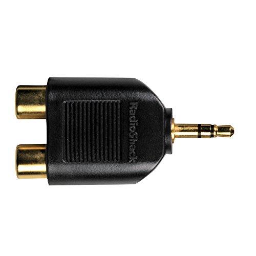 Gold 3.5 mm Stereo Plug to 2 Phono Sockets