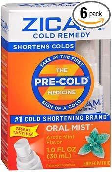 Zicam Cold Remedy Plus Oral Mist Arctic Mint - 1 oz, Pack of 6