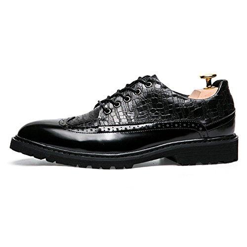 Shoes Antique e British Nero da Brogue Cricket Autunno Point da Oxford Primavera Uomo Colorful Casual Business Scarpe Cg8w7nq