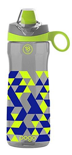 - Pogo BPA-Free Tritan Kids Water Bottle with Silicone Soft Straw, Grey Geode, 18 oz.