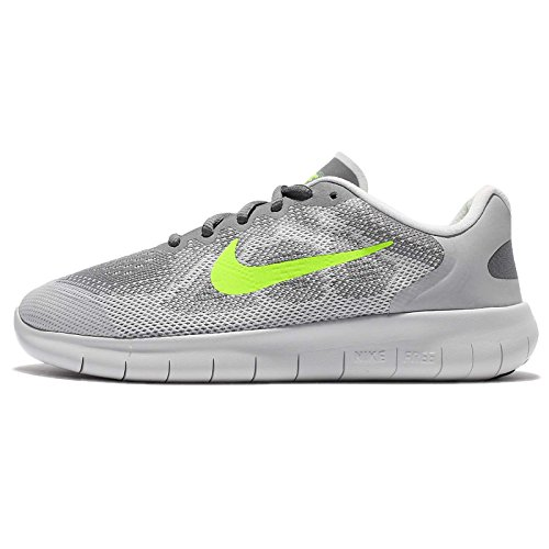 Nike Kids Free RN 2 Big Kid Cool Grey/Volt/Wolf Grey/Electro Green Boys Shoes Size 7 M (Boys Nike Free Running Shoes)