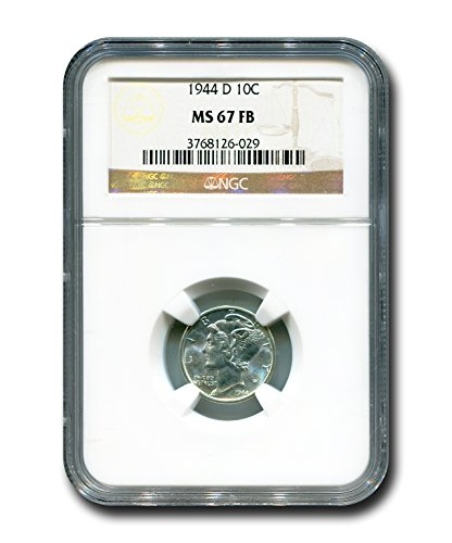 1944 D Mercury Dime NGC MS-67