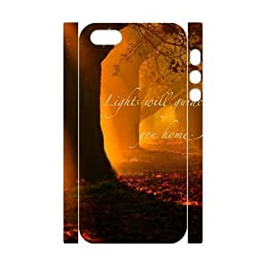 DIY Phone Case with Hard Shell Protection for Iphone 5,5S 3D case with lights will guide you home lxa#240192