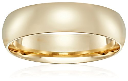 Standard Comfort-Fit 18K Yellow Gold Band, 6mm, Size 9