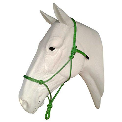 Horse Halter Sizes (Horse Rope Halters - 11 Sizes - Miniature, Foal, Weanling, Pony, Cob/Arab, Horse, Warmblood, Draft & Custom (Draft, Green))