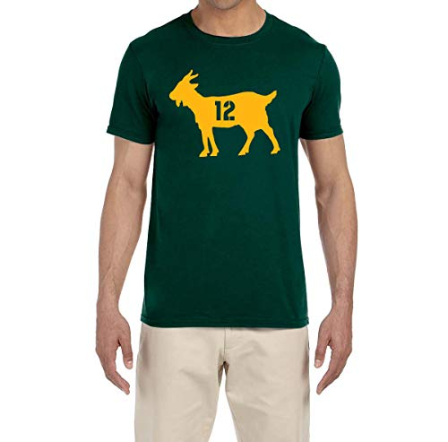 Tobin Clothing Green Green Bay Rodgers Goat T-Shirt Adult - Jersey Rodgers