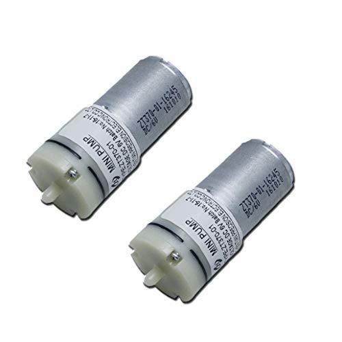 Dent-de-lion Air Pump Motor 6V DC for Aquarium Tank Oxygen Circulate,370 Micro Air Pump for Sphygmomanometer Massager (2 pcs) ()