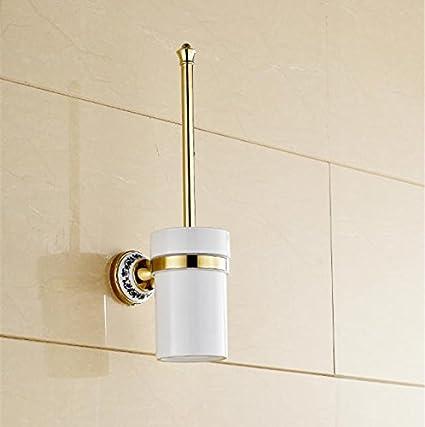 Dew todos Cobre Continental inodoro baño waschu Cubiertos iengo ldenen dorados Escobillero cabeza montado en Escobilla