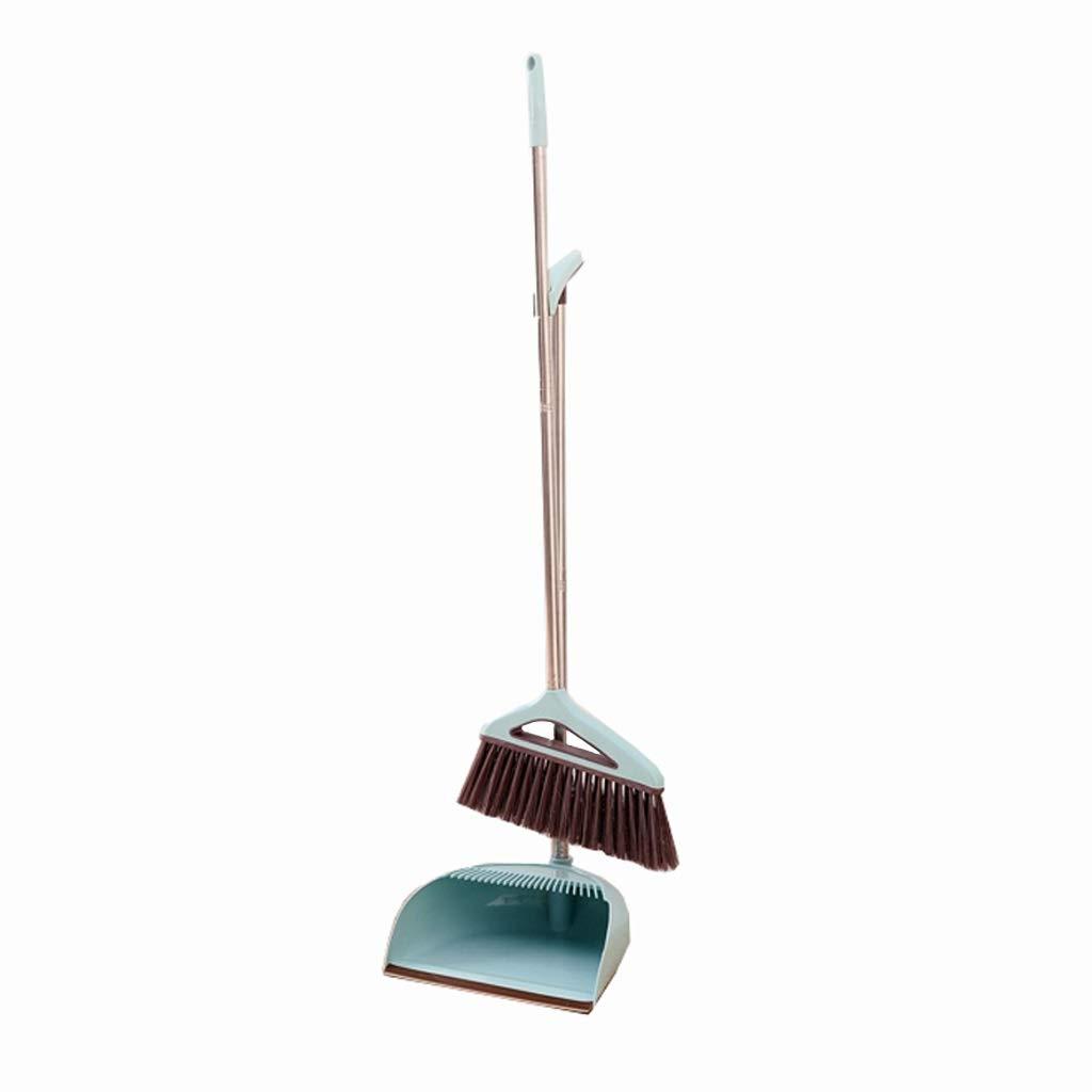 Lsxlsd Long Handled Dustpan And Brush,broom And Dustpan,Broom Dustpan Set With Long Handle (Color : Blue) by Lsxlsd