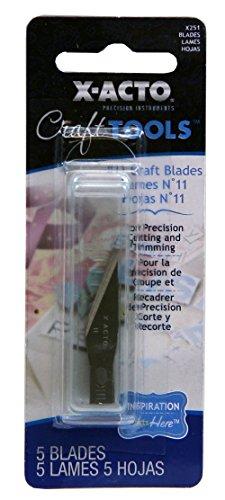 X-Acto ELMERS Designer Series Number 11 Blades, 5 Per Pack (X251)