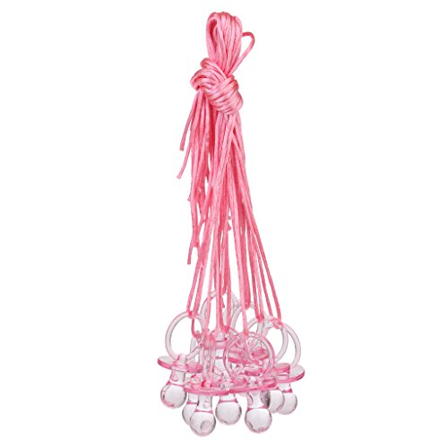 MonkeyJack 10pcs Large Pacifier Necklaces Game Prizes Gifts Baby Shower Favors Pink]()