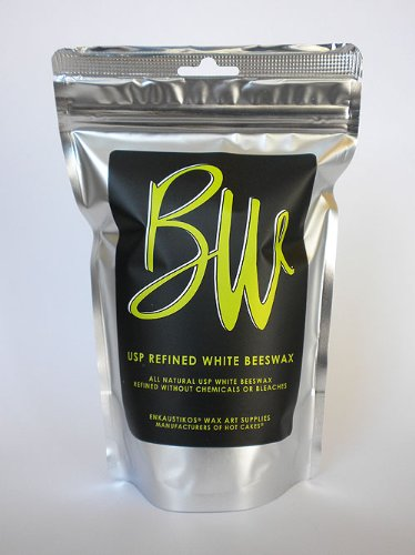 Beeswax US Pharmaceutical Grade White 16 oz Resealable Bag b