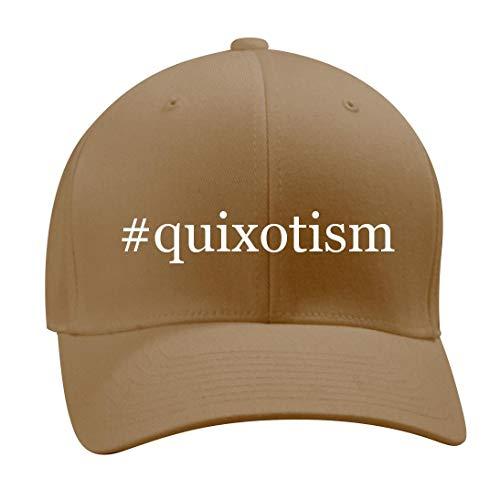 Shirt Me Up #Quixotism - A Nice Hashtag Men's Adult Baseball Hat Cap, Khaki, Large/X-Large