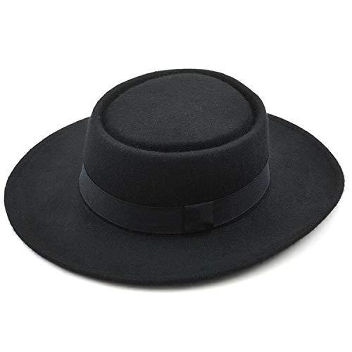 (Jeremy Stone Panama 101% Wool Pure Cashmere Shaped Solid Borsalino Hat Winter Felt Gambler Jazz Hat)