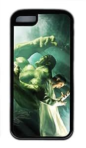 Customizablestyle the Hulk Marvel Comics iPhone 4/4s TPU Black Rubber Shell Case