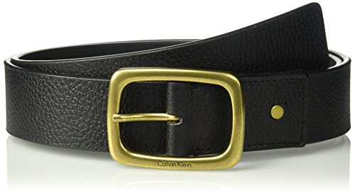 Calvin Klein Denim Belt (Calvin Klein Women's Casual Pebble Leather Wide Jean Belt, black, LARGE)