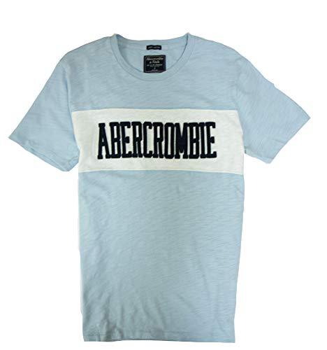 - Abercrombie & Fitch Men's T-Shirt (Light Blue 1892, L)