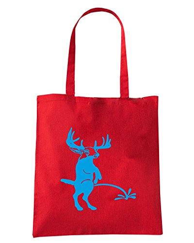 T-Shirtshock - Bolsa para la compra FUN0885 buck pee on your custom text t2 Rojo