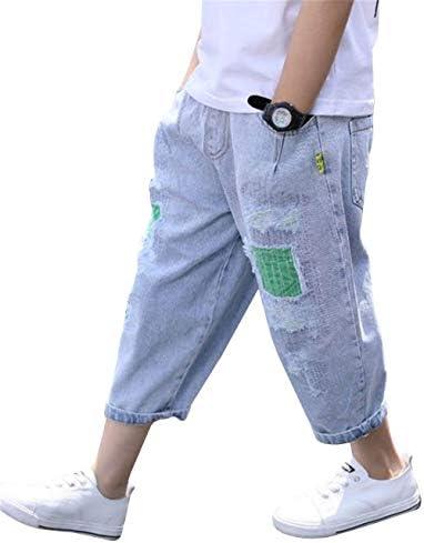 ロングパンツ ボーイズ デニム 春夏 カジュアル 美脚 ポケット 九分丈 ジーンズ ゆったり ファッション 大きいサイズ ジュニア コーディネート