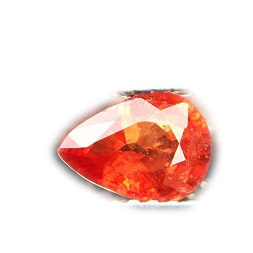 (Lovemom 0.76ct Natural Pear Orange Sapphire Songea Tanzania #R)