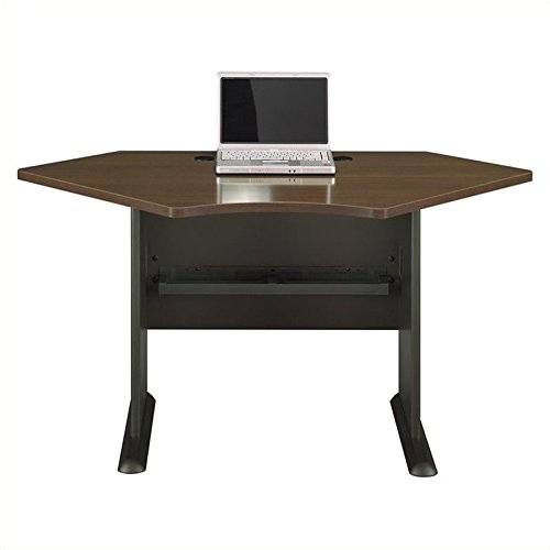 - Bush Business Furniture Series A Collection 42W Corner Desk in Sienna Walnut