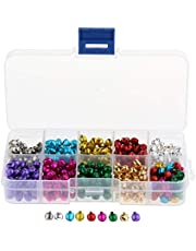 Jingle Bells Charm Christmas Musical Pendant Assorted Colours Sizes DIY Jewelry - 500pcs 6mm, as described