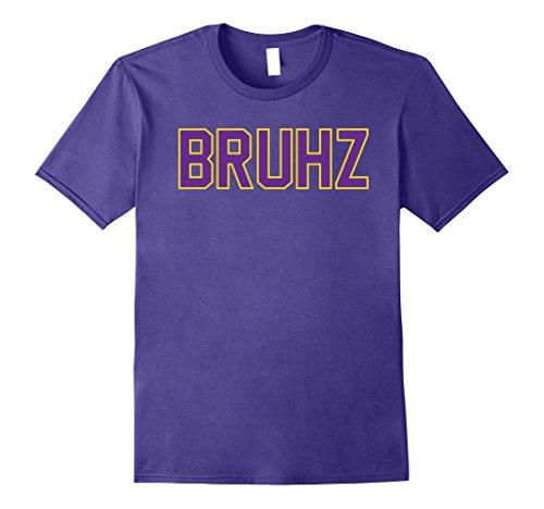 Mens Omega Gold Purple Q Psi Phi Bruhz T-Shirt Large (Omega Psi Phi Clothing)