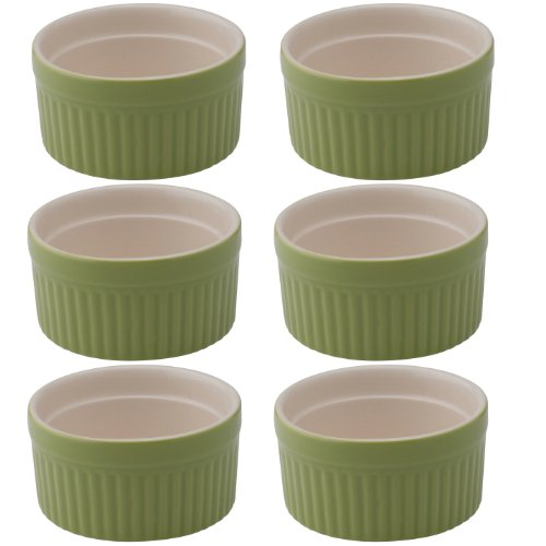 Mrs. Anderson's Baking Ramekin, Ceramic Earthenware, Sage, 2.5-Inch, 2-Ounce Capacity (Ina Garten Best Appetizer Recipes)