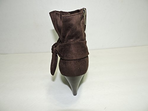 Brown Suede Fashion West Booties boot heels 3