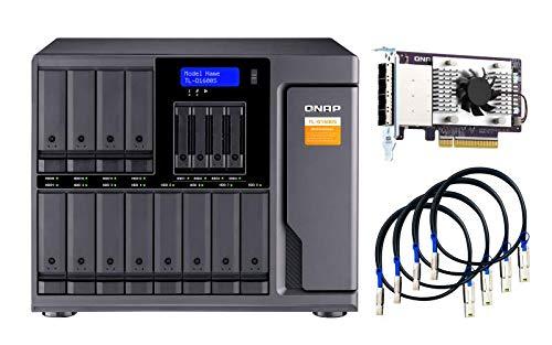QNAP TL-D1600S 16 Bay SATA 6Gbps JBOD Storage Enclosure.PCIe SATA Interface Card (QXP-1600eS) Included