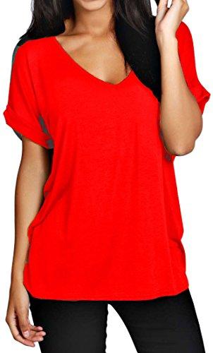 Rot Donna T Fashion shirt 1st xHvxaI