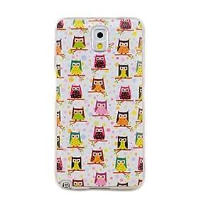 JJE Variety of Owls Soft TPU Gel Case for Samsung Galaxy Note 3 N9005 N9002 N9000