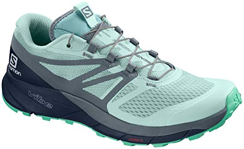 Salomon Women's Sense Ride 2 W Sneaker, ICY Morn/Navy Blazer/Electric Green