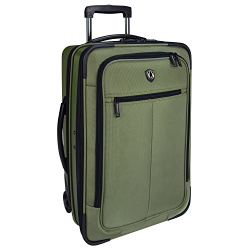 Traveler's Choice Sienna Hardside Softshell Hybrid Carry-On Rolling Garment Bag - Green (21-Inch)