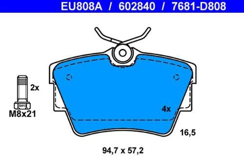 ATE 13.0460-2840.2 Bremsbelagsatz Scheibenbremse