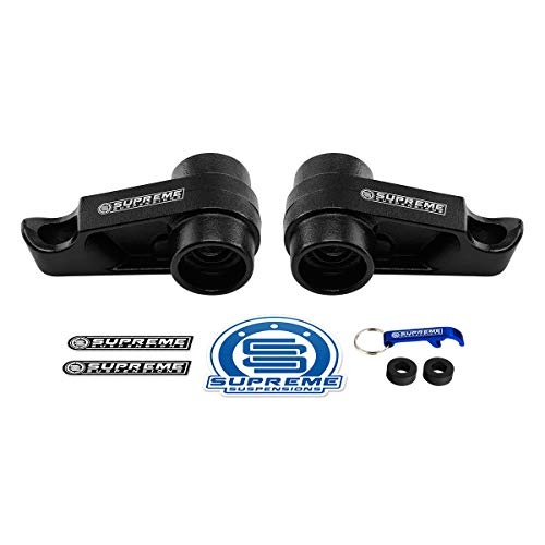 """Supreme Suspensions - 1"""" to 3"""" Adjustable Front Steel Torsion Keys for 2004-2012 Chevrolet Colorado/GMC Canyon Suspension Leveling Lift Kit [2WD + 4WD]"""