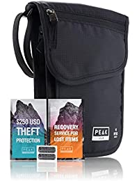 RFID Neck Wallet - Includes Theft Insurance and Global Lost & Found Service