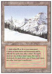 Magic: the Gathering - Taiga - Revised Edition by Magic: the Gathering