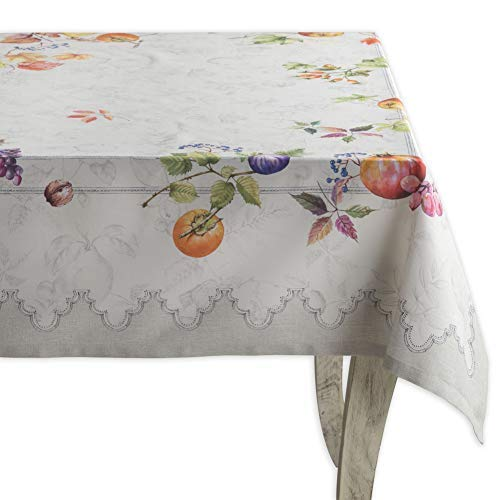 Maison d'Hermine Fruit d'hiver 100% Cotton Tablecloth 60 Inch by 120 Inch. Perfect for Christmas