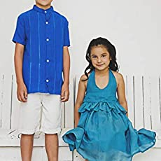 NICOLAS MX- Set for boy (bermuda and guayabera deshilada cambaya)