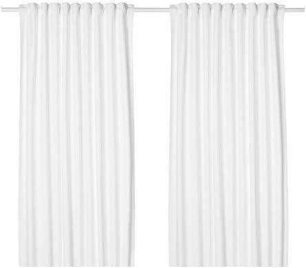 145x300cm Vorhang IKEA TIBAST Gardinenpaar in weiß; 100/% Baumwolle;