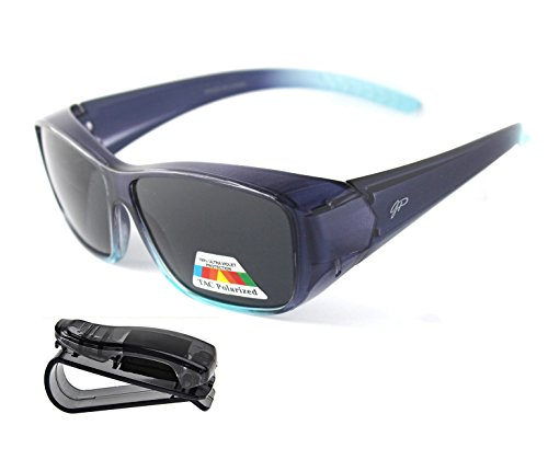Fit Over Polarized Sunglasses Lens Cover Sunglasses plus car clip - Polarized Rx Sunglasses Over