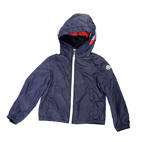 Moncler Kids's CAMARSAC Blue Hooded Windbreaker Jacket Moncler sz 14A ()