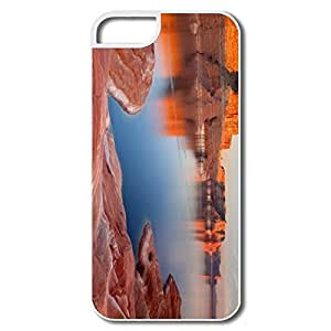 IPhone 5 5S Shell, Padre Bay Lake Powell Utah Cases For IPhone 5S - White Hard Plastic