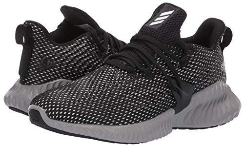 Adidas Kids Alphabounce Instinct, Black/White/Grey, 1 M US Little Kid by adidas (Image #6)