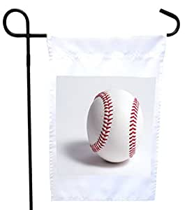 Rikki Knight Baseball Ball House or Garden Flag with 11 x 11-Inch Image, 12 x 18-Inch