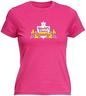 Worlds Finest Auntie T-SHIRT Family Aunt Family Mum Aunty Funny Gift Birthday