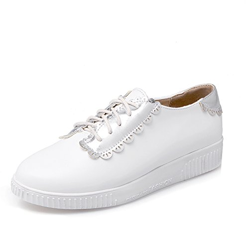 Zapato de boca profunda bajo/Color matching zapatos flat-bottom/Zapatos del estudiante blanco C