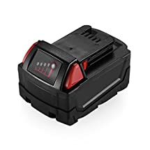 Powerextra Upgarded 18V 4.0Ah Lithium-ion Replacement Battery for Milwaukee 48-11-1840 M18 REDLITHIUM XC 4.0 Ah Milwaukee 18V Tools Milwaukee M18 Lithium-ion Battery