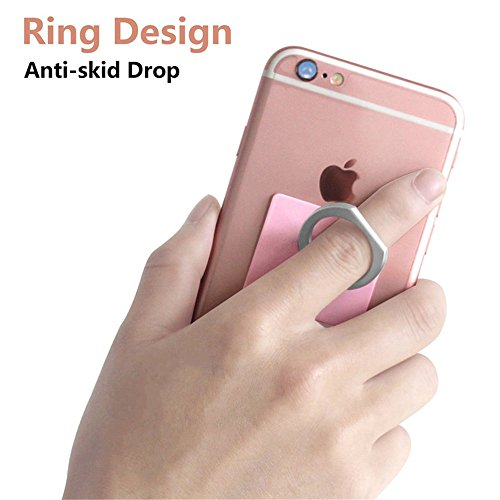 Phone Ring Stand, MCUK Universal 360 Degree Ring Holder Grip with Stand Holder for Any Smartphones and Device, for iPhone 6/6S/6 Plus/5S/5C,Samsung Galaxy S6 (Pink)
